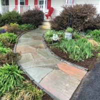 555 Salvaged and Re-Set Flagstone Walkway