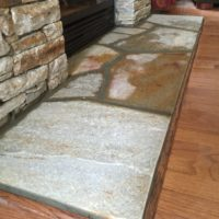 590 Renovated Fireplace with Idaho Flagstone Hearth