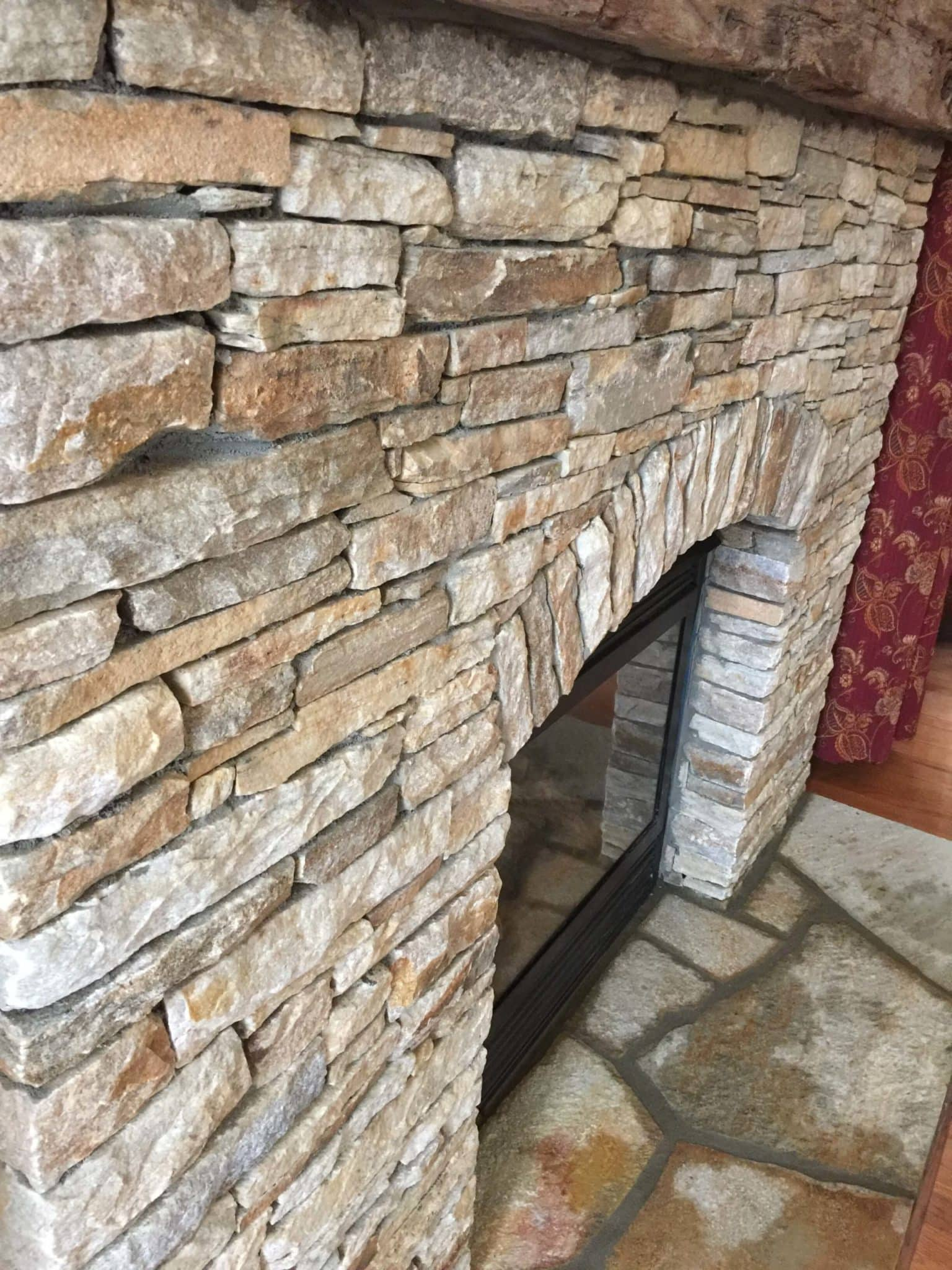 591 Renovated Fireplace with Stacked Baltimore Wall Stone Surround