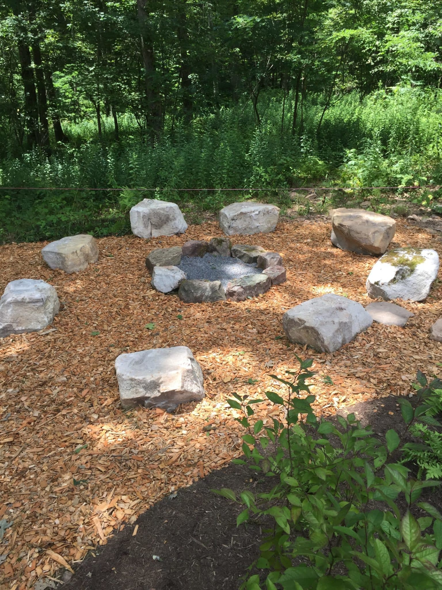 597 Informal Firepit with Salvaged Boulders