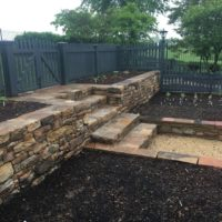 625 Stone Retaining Wall and Steps