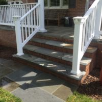 653 Brick and PA Flagstone Front Porch, Steps and Walkway