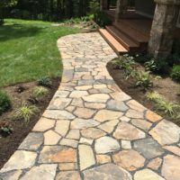 Stone Walkway to Wide Staircase