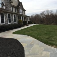 Gracious Front Flagstone Walkway