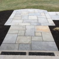 Flagstone Landing with Border