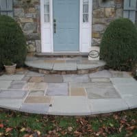 Renovated Front Flagstone Step and Landing