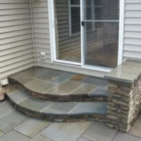 Stone Landing and Steps to Patio Door
