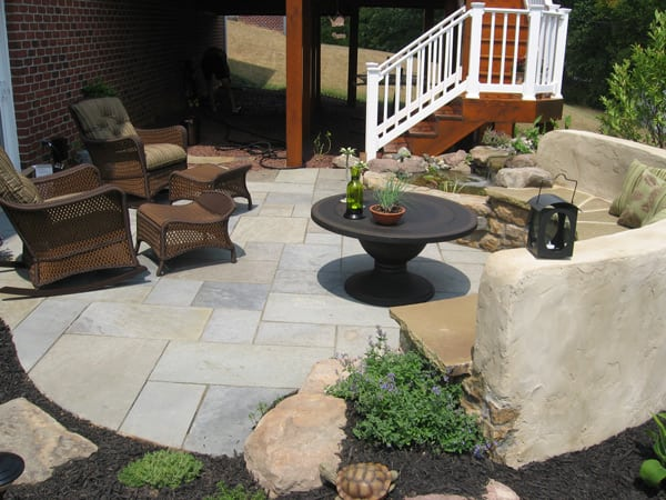 Outdoor Flagstone Patio - After Poole's Stone & Garden in Ellicott City, Frederick, Chevy Chase MD & Beyond