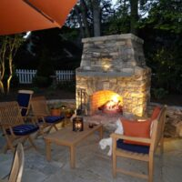 Outdoor Patio Stone Fireplaces in Maryland