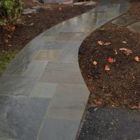 Flagstone Path From Driveway to Deck