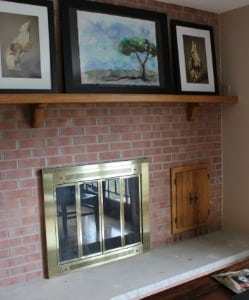 Gas Fireplace Before Stone Wall Design Done by Poole's Stone & Garden- Frederick, Ellicott City, Bethesda MD, VA & WV