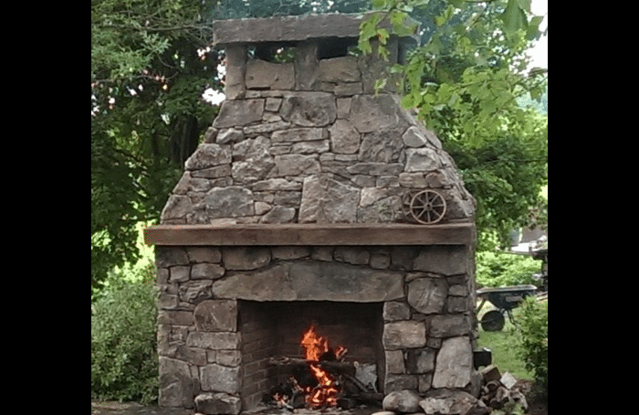 Patio fireplace amp fire pits in frederick md poole s stone amp garden