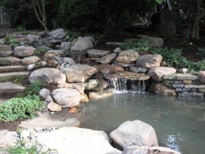 Stone Water Feature - After
