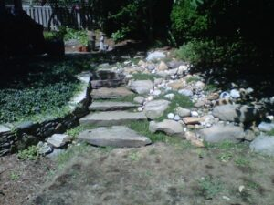 Stone Water Feature - Before