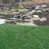 Back Yard Waterfall and Stepping Boulders