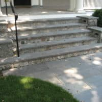 Granite and Flagstone Steps for Historic Home