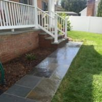 Kirkwood After Stone Patio and Walkway Landscape Design Near Ellicott City MD