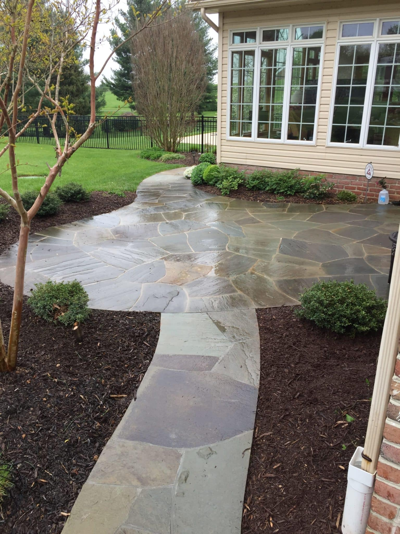 Flagstone Path to Rear Patio