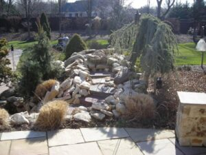 Water Feature in Loudon County, VA - Before