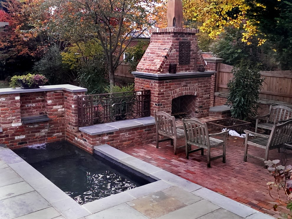 Brick Patio & Fireplace in Frederick, MD