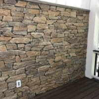 Stone Veneer Wall on Porch
