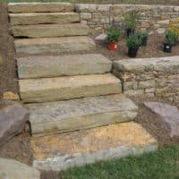 Oakmont Stone Steppers Access to Upper Yard