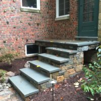 Stone Steps and Cantilevered Landing for Historic Home