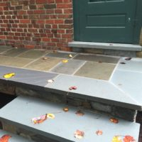 Stone Steps and Cantilevered Landing for Historic Home 3