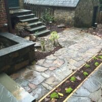 Stone Walkway for Historic Home