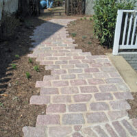 Staggered Paver Walkway