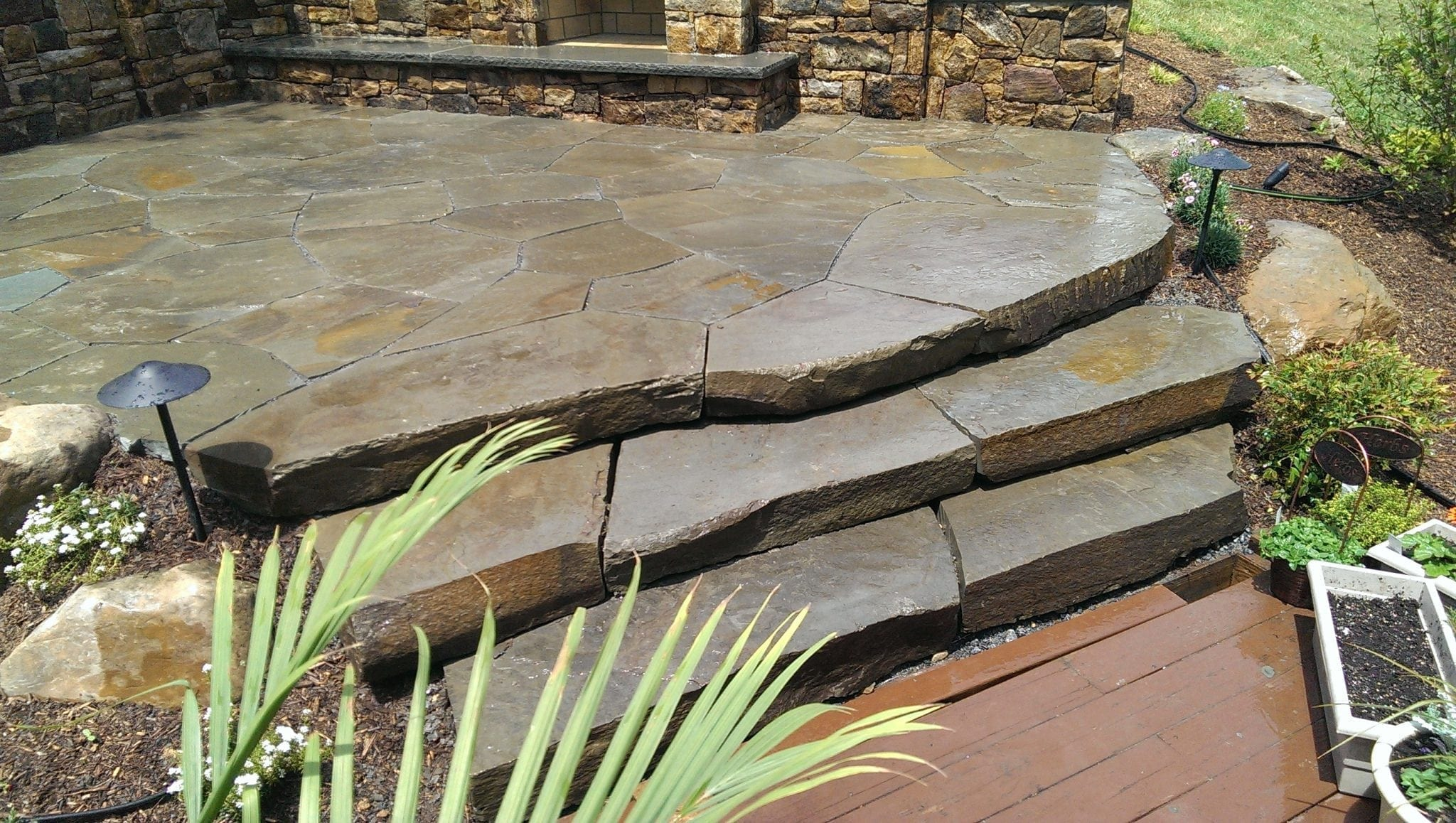 Colonial Steppers To Pa Irregular Flagstone Patio