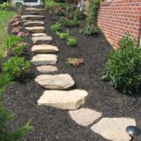 Stone Steppers through Side Yard
