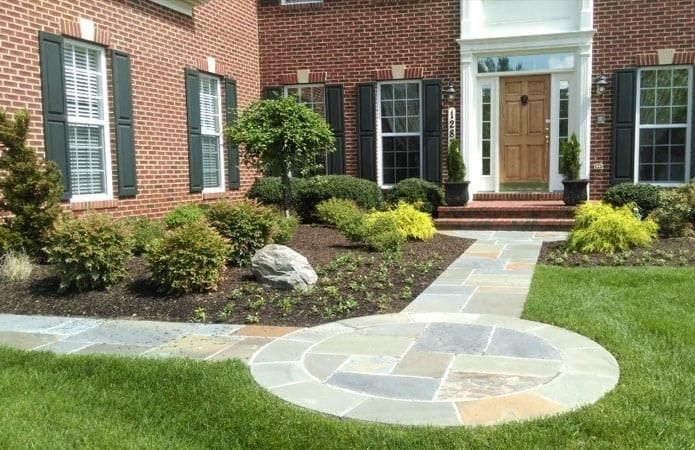 Outdoor Stone Patio and Walkway After- Frederick & Potomac MD Areas