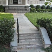 Flagstone and Granite Stairs and Walkway to Historic Home