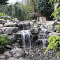 Stone Patio Waterfall in Bethesda, Maryland