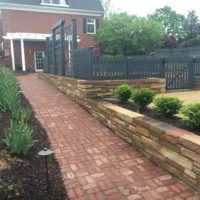 Attractive Accessibility with Brick and Stone Walls