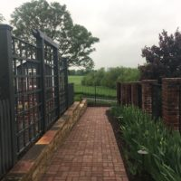 Attractive Accessibility with Gradual Brick Walkway