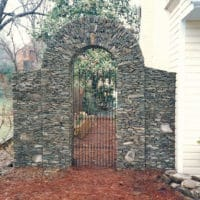 Stone Archway with Metal Gate