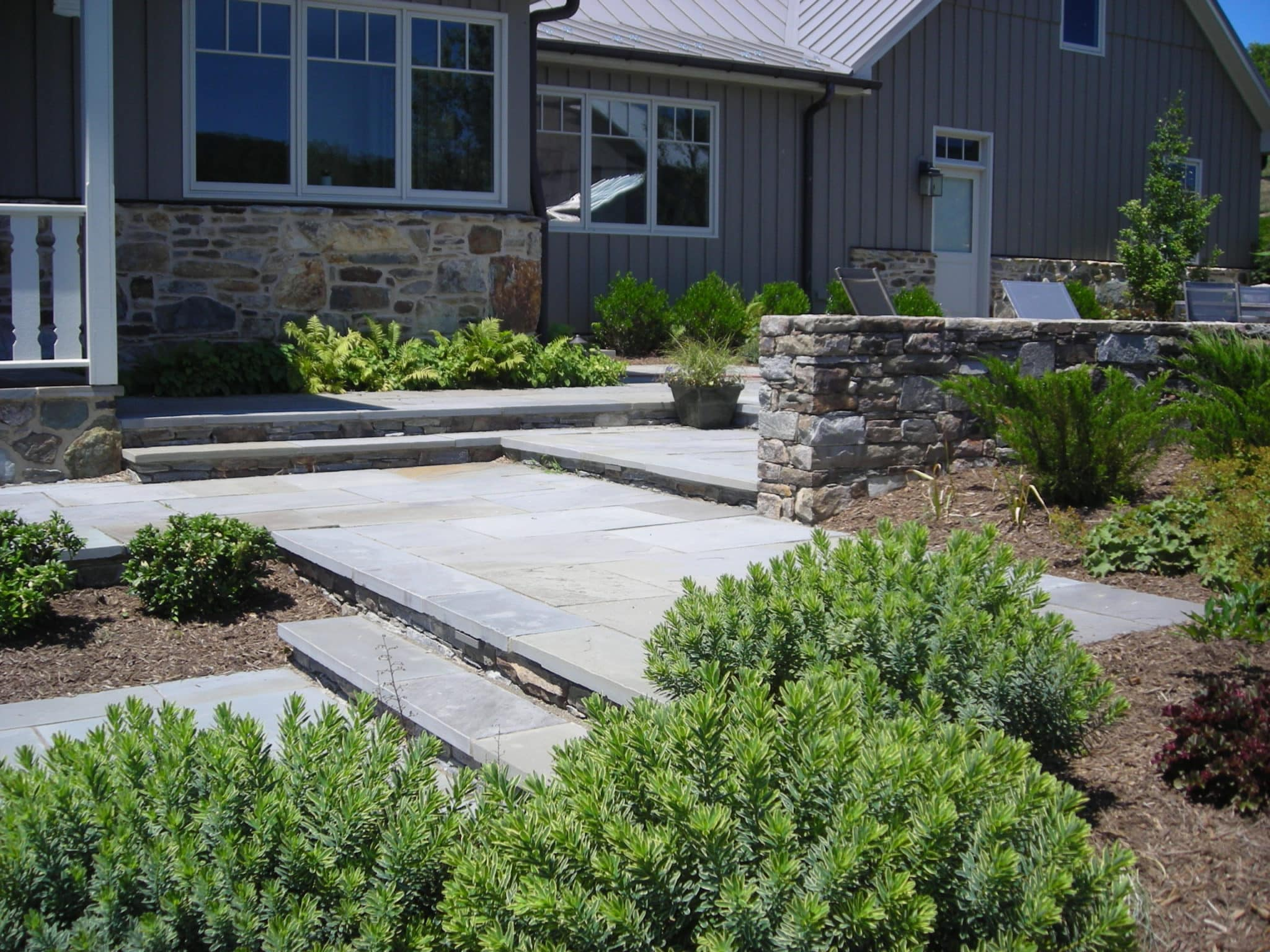 Flagstone Patios, Steps and Stone Walls