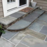 New Stone Steps and Flagstone Patio