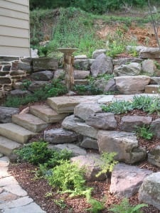 After Stone Patio and Steps Design by Poole's Stone & Garden in Ellicott City, Frederick, Chevy Chase MD, VA & DC