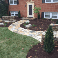 Woodcock Testimonial- Stone Walkway and Patio Design Near Shepherdstown WV